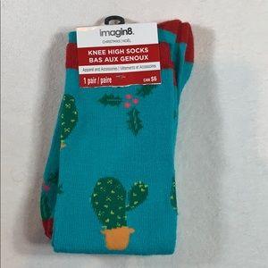 3/$20 Christmas Cactus knee high socks